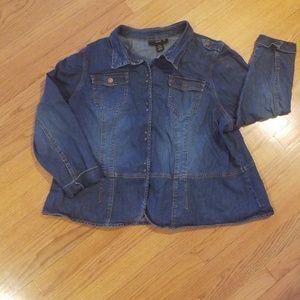 ed7e4f01bbf Venezia (Lane Bryant) Denim Jacket Size 26 28